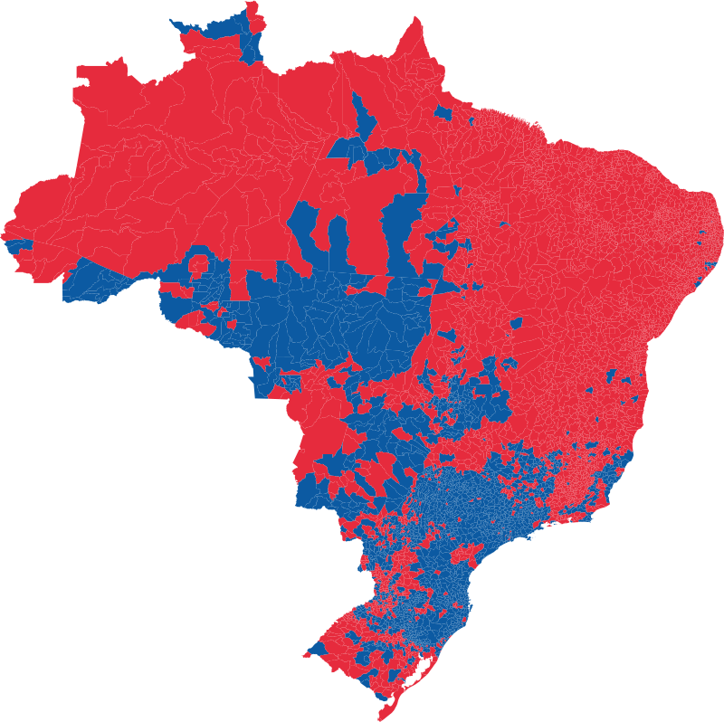 Mapa do segundo turno presidencial, 2014